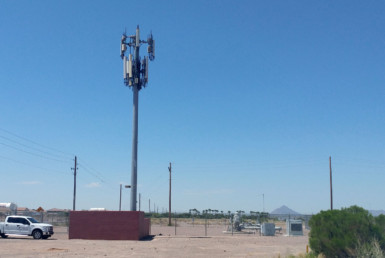 Cell Tower Easement in open lot Mesa Arizona